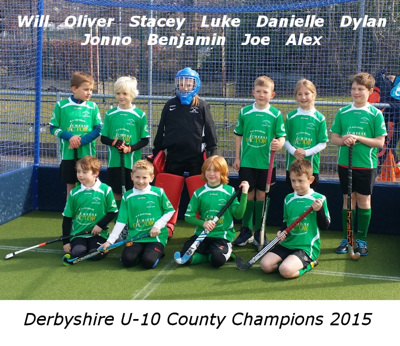 Chesterfield HC Under 10s - Derbyshire County Champions 2015